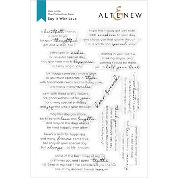 Altenew SAY IT WITH LOVE Clear Stamps ALT4215