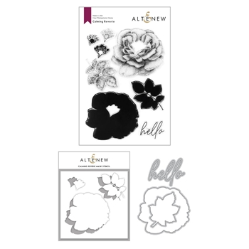 Altenew CALMING REVERIE Clear Stamp, Die, and Mask Stencil Bundle