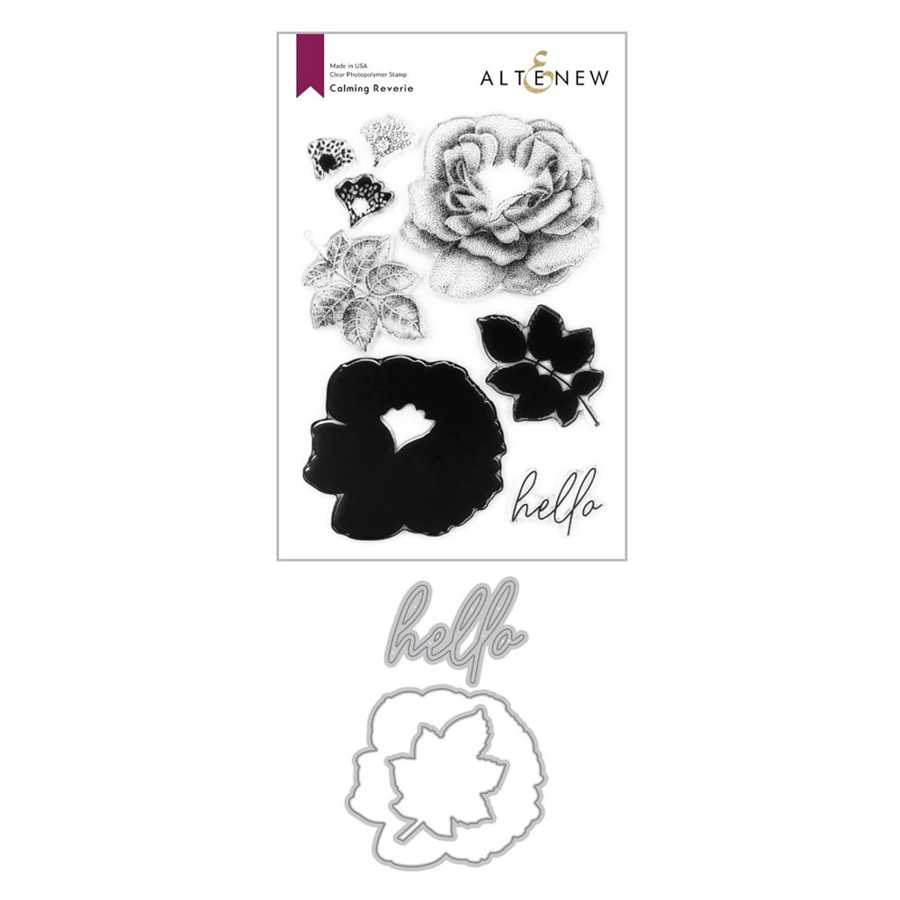 Altenew CALMING REVERIE Clear Stamp and Die Bundle zoom image