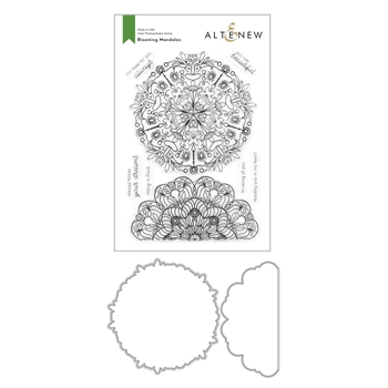 Altenew BLOOMING MANDALAS Clear Stamp and Die Bundle ALT4209