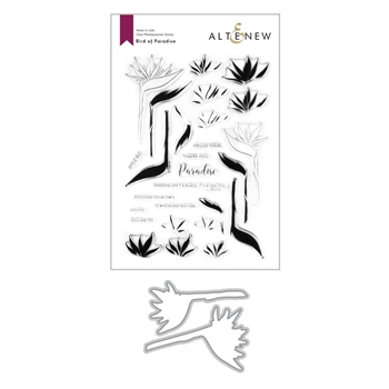 Altenew BIRD OF PARADISE Clear Stamp and Die Bundle ALT4206BN