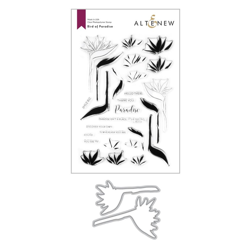 Altenew BIRDS OF PARADISE Clear Stamp and Die Bundle ALT4206BN zoom image