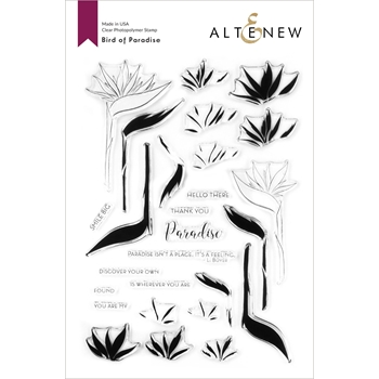 Altenew BIRDS OF PARADISE Clear Stamps ALT4205