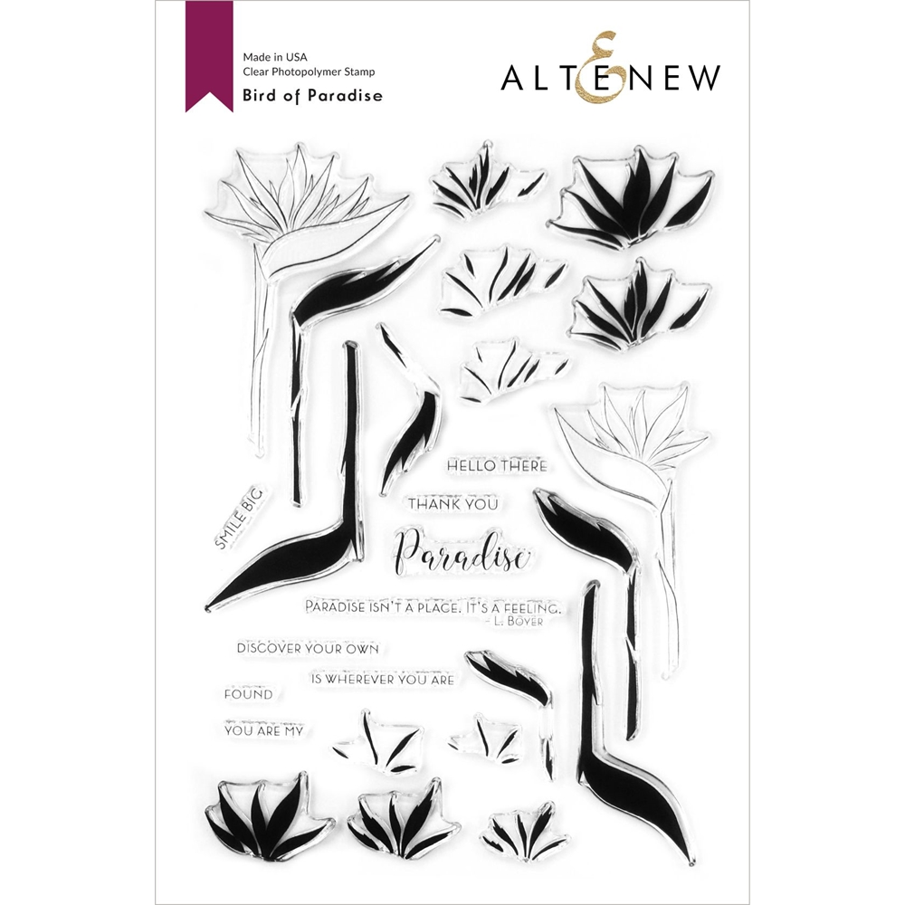 Altenew BIRDS OF PARADISE Clear Stamps ALT4205 zoom image