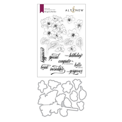 Altenew BERGENIA BUILDER Clear Stamp and Die Bundle ALT4203 Preview Image