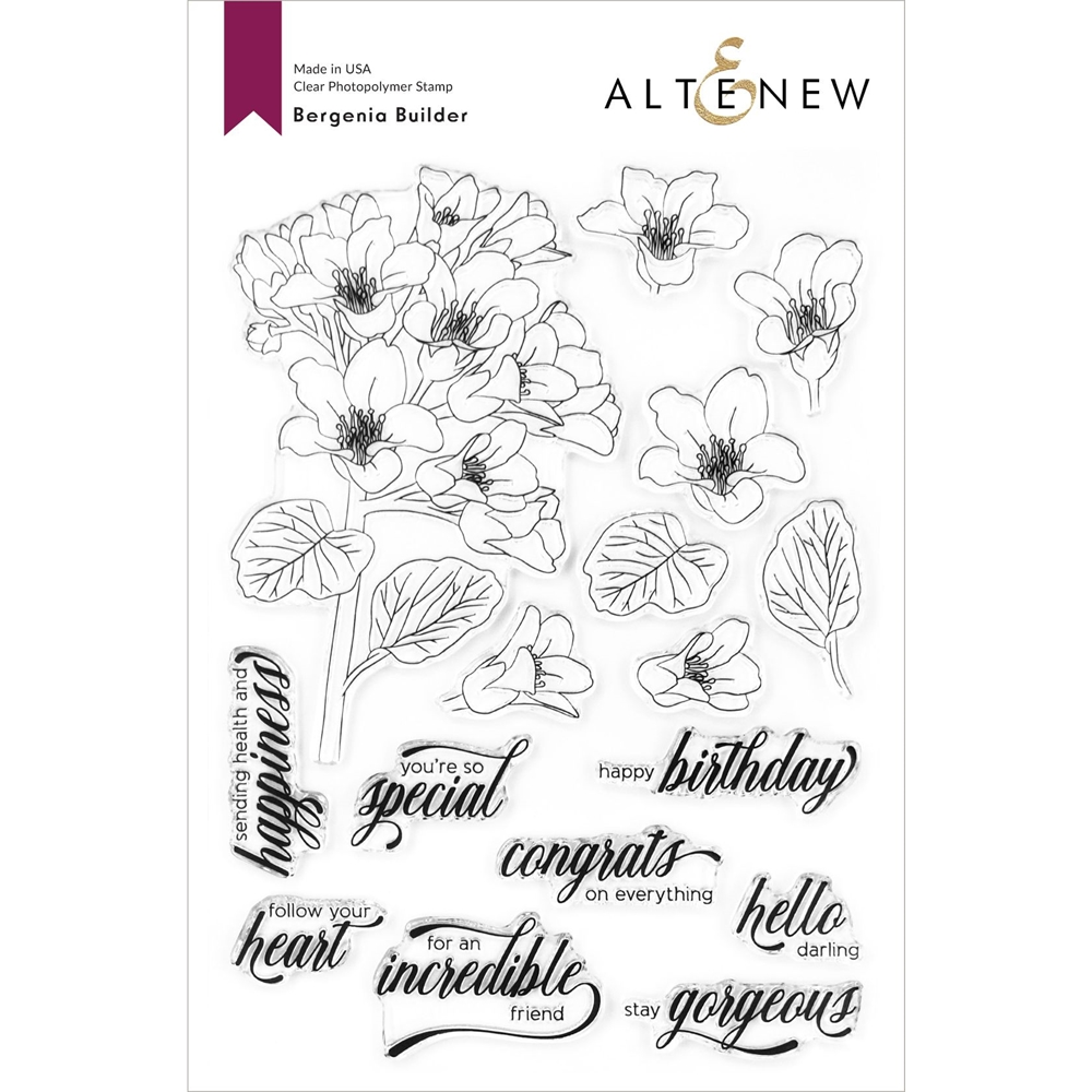 Altenew BERGENIA BUILDER Clear Stamps ALT4200 zoom image
