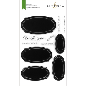 Altenew APOTHECARY LABELS Clear Stamps