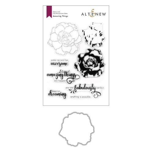 Altenew AMAZING THINGS Clear Stamp and Die Bundle ALT4197 Preview Image