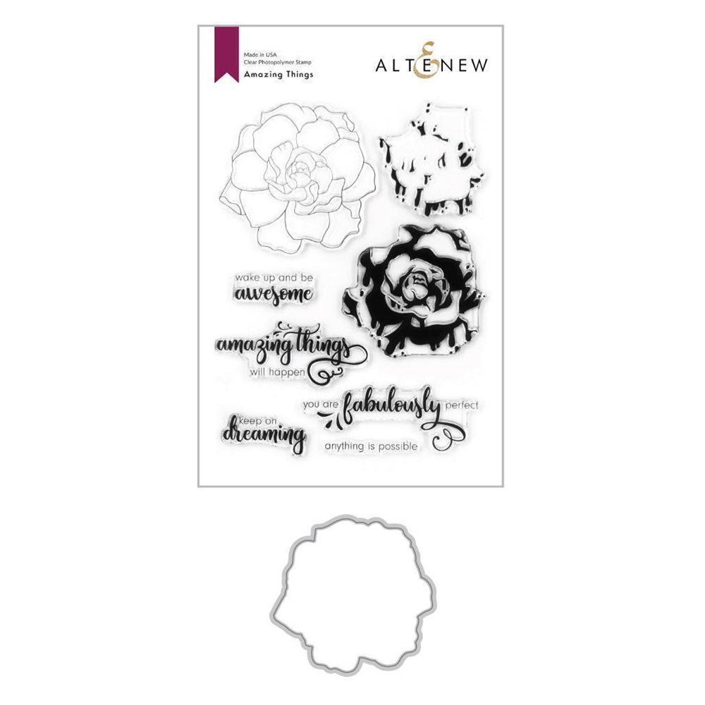 Altenew AMAZING THINGS Clear Stamp and Die Bundle ALT4197 zoom image