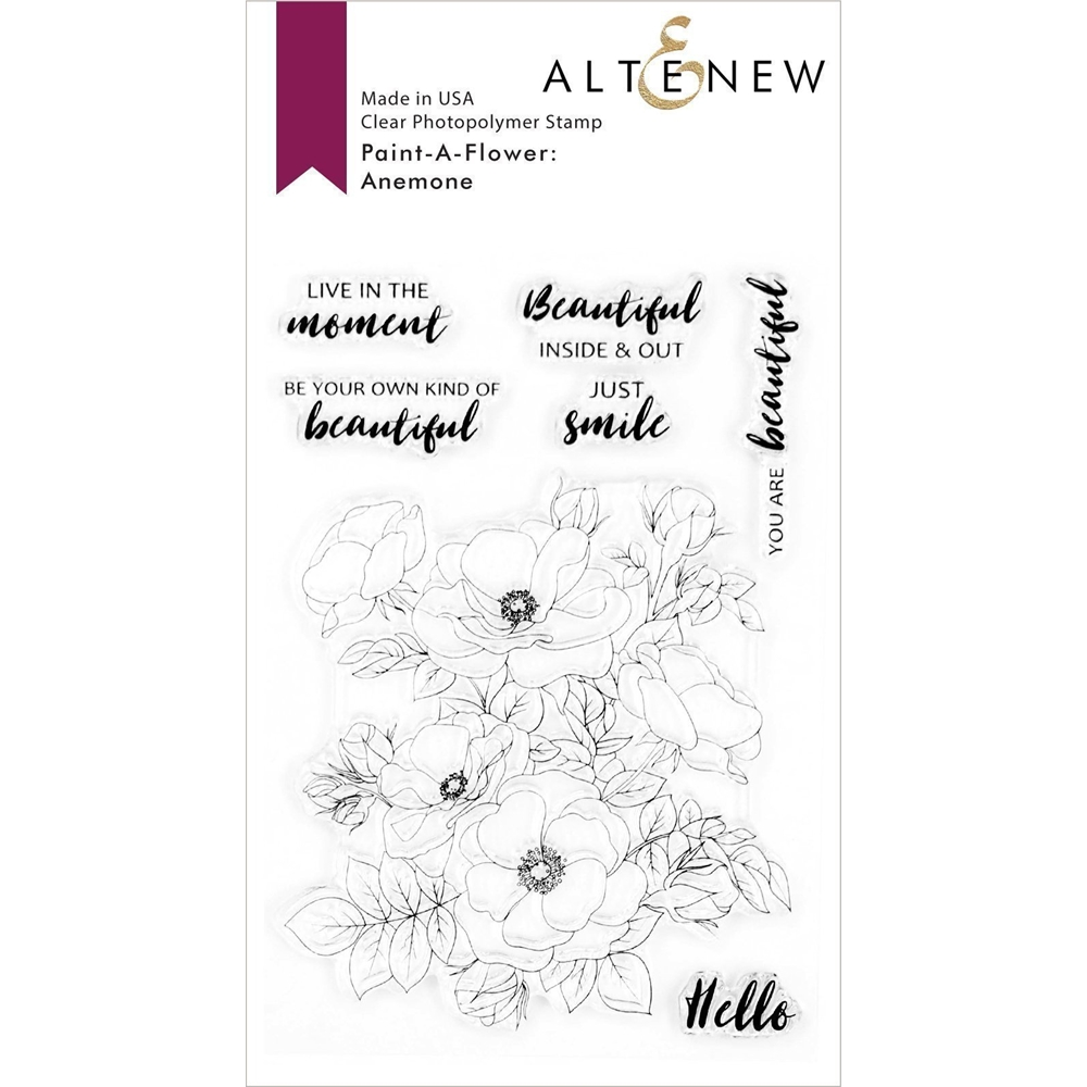 Altenew PAINT A FLOWER ANEMONE Clear Stamps ALT4164 zoom image