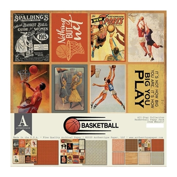 Authentique BASKETBALL 12 x 12 Paper Pack all017