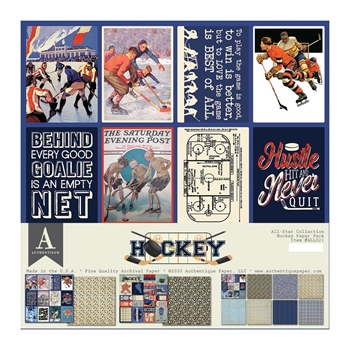Authentique HOCKEY 12 x 12 Paper Pack all021