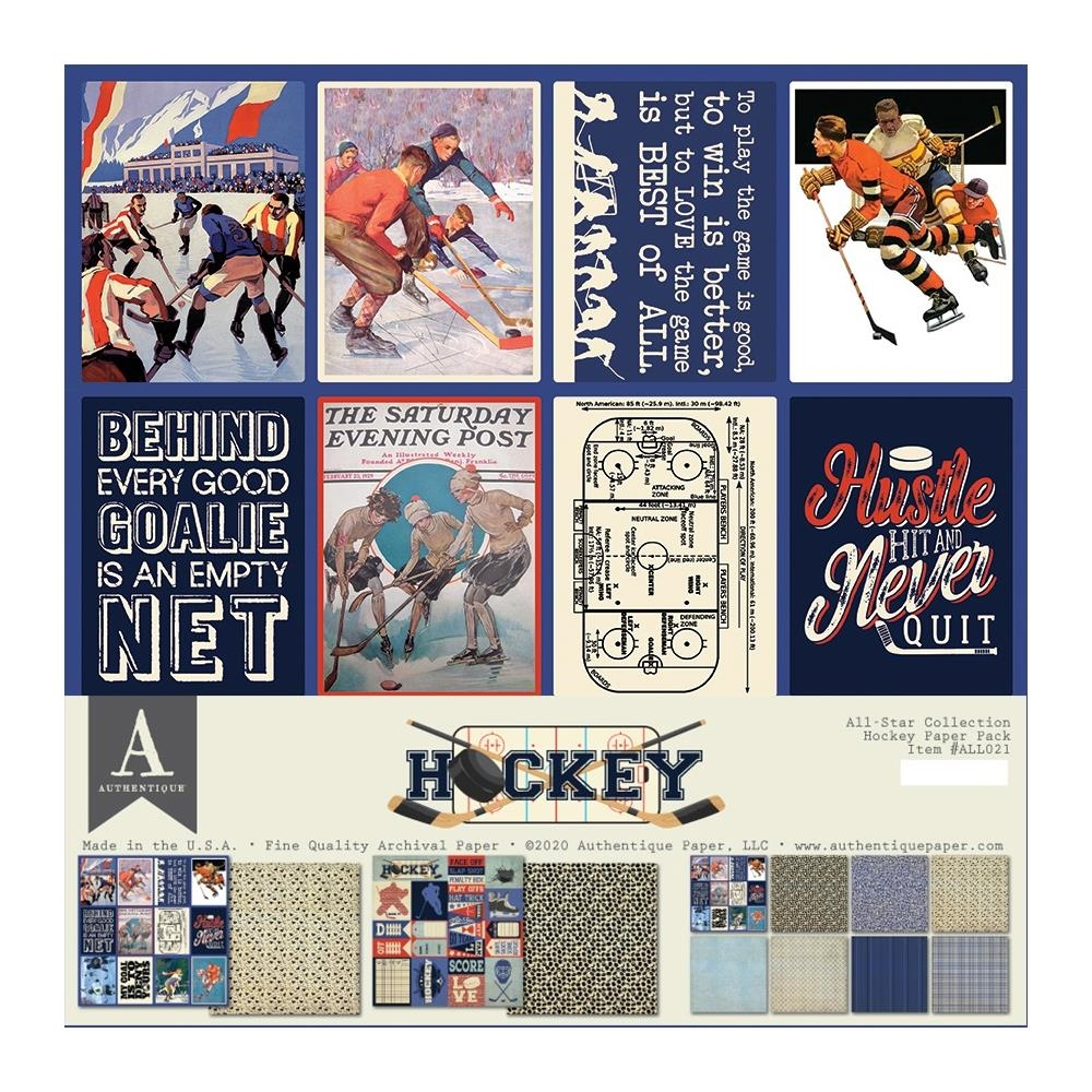 Authentique HOCKEY 12 x 12 Paper Pack all021 zoom image