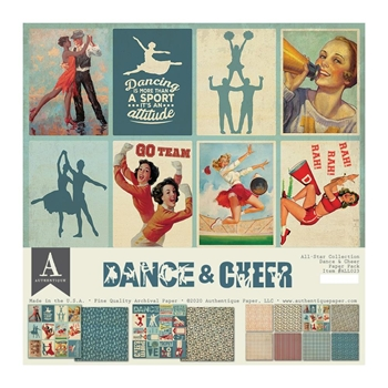 Authentique DANCE AND CHEER 12 x 12 Paper Pack all023*