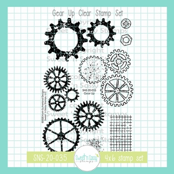 Sweet 'N Sassy GEAR UP Clear Stamp Set sns20035