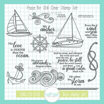 Sweet 'N Sassy PEACE BE STILL Clear Stamp Set sns20038