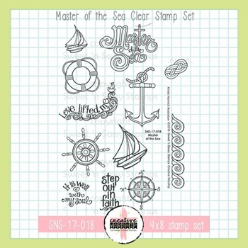 Sweet 'N Sassy MASTER OF THE SEA Clear Stamp Set sns17018