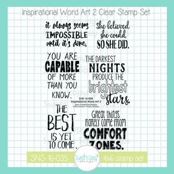 Sweet 'N Sassy INSPIRATIONAL WORD ART 2 Clear Stamp Set sns16035