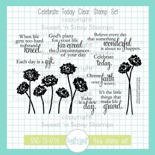Sweet 'N Sassy CELEBRATE TODAY Clear Stamp Set sns13014* Preview Image
