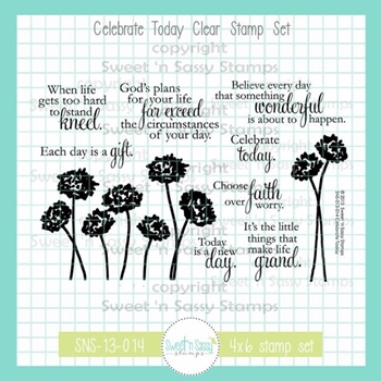 Sweet 'N Sassy CELEBRATE TODAY Clear Stamp Set sns13014*