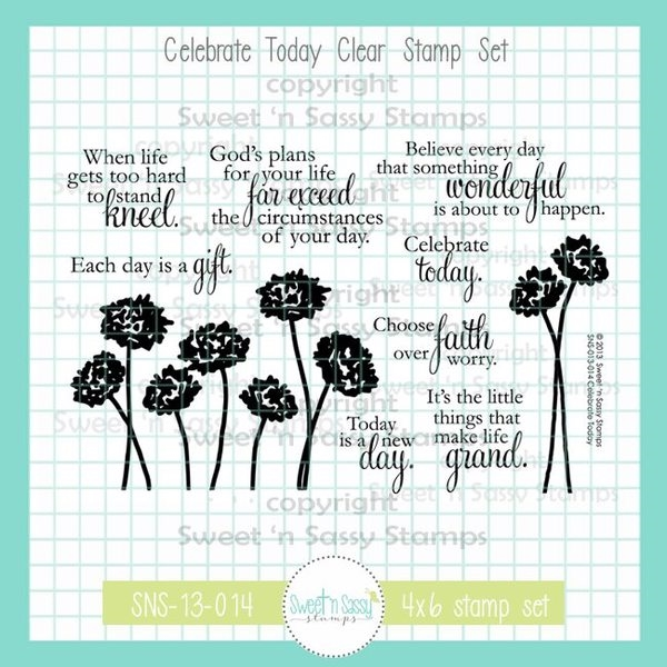 Sweet 'N Sassy CELEBRATE TODAY Clear Stamp Set sns13014* zoom image