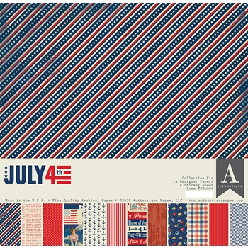 Authentique JULY 4TH 12 x 12 Collection Kit jul004