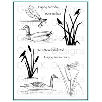 Gina K Designs WETLANDS 1 Clear Stamps 9346