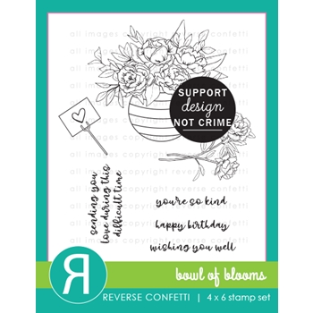 Reverse Confetti BOWL OF BLOOMS Clear Stamps