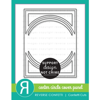 Reverse Confetti Cuts CENTER CIRCLE COVER PANEL Die