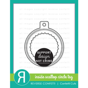 Reverse Confetti Cuts INSIDE SCALLOP CIRCLE TAG Dies