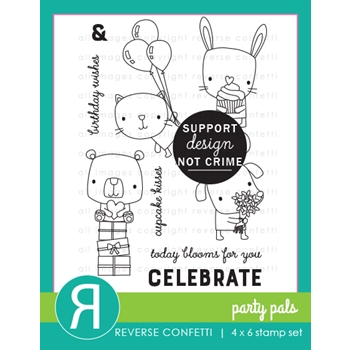 Reverse Confetti PARTY PALS Clear Stamps