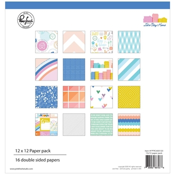 Pinkfresh Studio LET'S STAY HOME 12 x 12 Paper Pack pfrc400120
