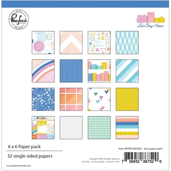 PinkFresh Studio LET'S STAY HOME 6 x 6 Paper Pack pfrc400220