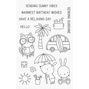 My Favorite Things SUNNY VIBES Clear Stamps cs486*
