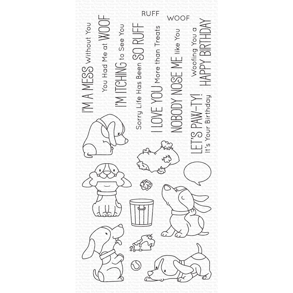 My Favorite Things WOOF PACK Clear Stamps bb105 zoom image