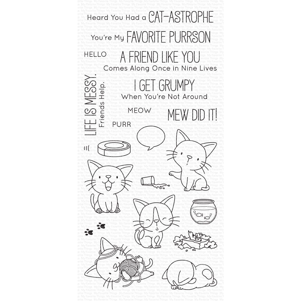 My Favorite Things CAT-ASTROPHE Clear Stamps bb104 zoom image