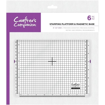 Crafter's Companion 8 x 8 STAMPING PLATFORM AND MAGNETIC BASE cctoolstplatmb