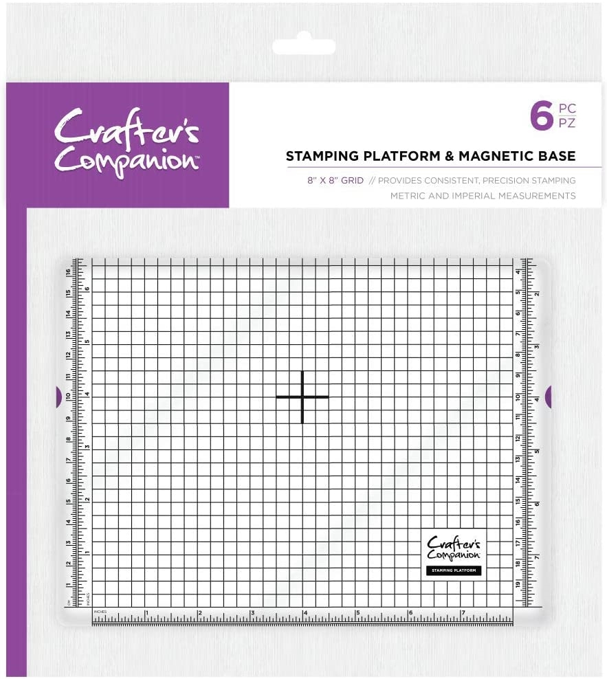 Crafter's Companion 8 x 8 STAMPING PLATFORM AND MAGNETIC BASE cctoolstplatmb zoom image