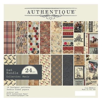 Authentique 6 x 6 MANLY Paper Pad man010