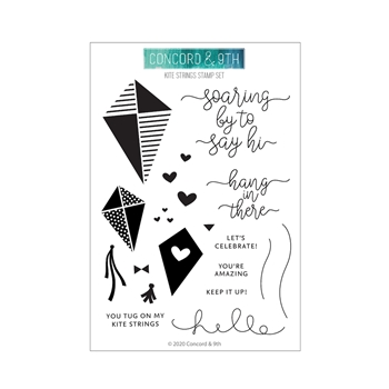 Concord & 9th KITE STRINGS Clear Stamp Set 10936