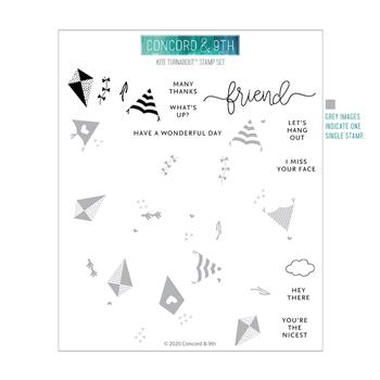 Concord & 9th KITE TURNABOUT Clear Stamp Set 10939