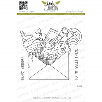 Lesia Zgharda SWEET MAIL Clear Stamps k036