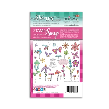 Polkadoodles GARDEN GLORY Stamp Soup Clear Stamps pd8085