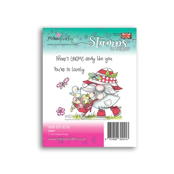 Polkadoodles THERE'S GNOME BODY LIKE YOU Clear Stamps pd8071