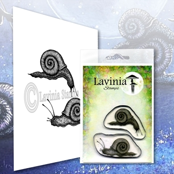 Lavinia Stamps SNAIL SET Clear Stamps LAV607