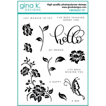 Gina K Designs A BIG HELLO Clear Stamps 6415