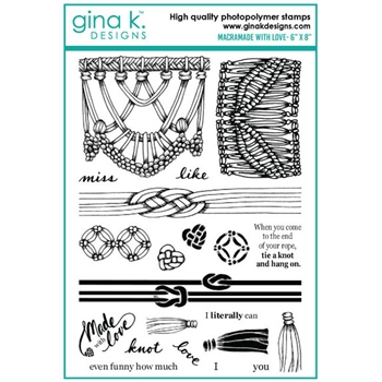 Gina K Designs MACRAMADE WITH LOVE Clear Stamps 6538