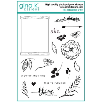 Gina K Designs FREE TO FLOURISH Clear Stamps 6507