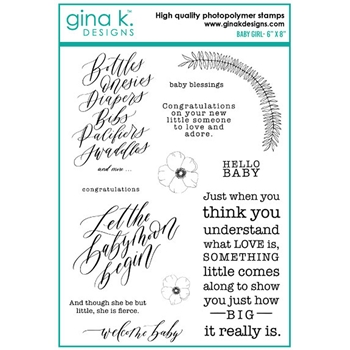 Gina K Designs BABY GIRL Clear Stamps 6491