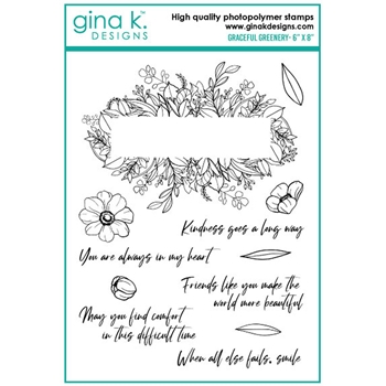 Gina K Designs GRACEFUL GREENERY Clear Stamps 6514